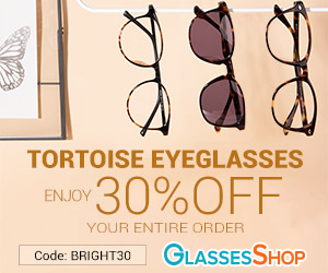 TORTOISE EYEGLASSES - Enjoy 30% Off Your Entire Order (Sale frames excluded.)