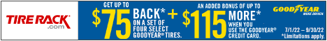 Get Up to $75 Back* from Goodyear