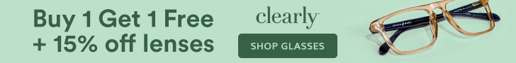 BOGO + 15% off lenses at Clearly