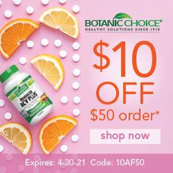 Botanic Choice $10 Off Coupon