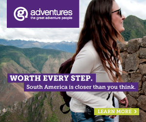 G Adventures South America banner