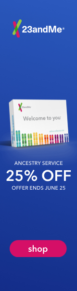 Save 25% on the Ancestry Service at 23andMe.com. Order today. Offer ends June 25th