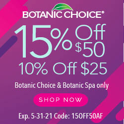 Botanic Choice 15% Off Coupon