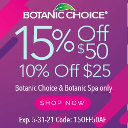 Botanic Choice 15% Off Coupon