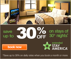 Extended Stay America promo code - up to 30% off