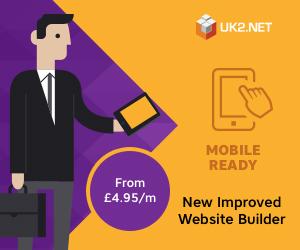 20% off Web site Builder  - £2.36/m