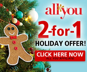 ALL YOU 2-For-1 Holiday Offer 300x250
