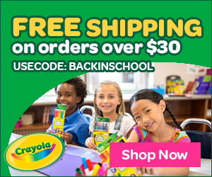 Aug 1-30- Free Shipping on $30+ order with code BACKINSCHOOL