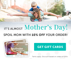 Mother's Day Gifts Spafinder Gift cards for Mom