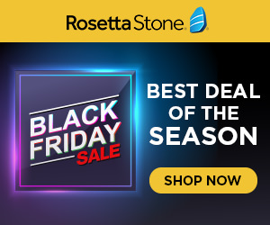 BLACK FRIDAY SALE: Buy 24 Months of Rosetta Stone, Get 6 Bonus Months!