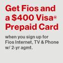 Verizon FiOS Triple Play $79.99/mo. + $300 Visa Prepaid Card!