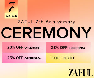 Zaful 7th Anniversary Sale: $65-20% | $95-25% | $115-28% Code: ZF7TH Time: 6/1-6/30, 2021
