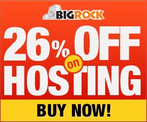 26% off Hosting: Bigrock Coupon Code