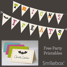 Halloween party tips and free printables from Smilebox