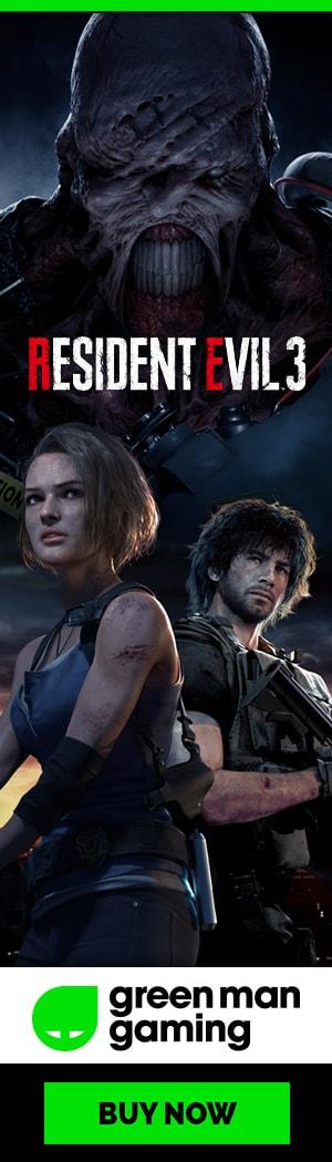 Osta ennakkoon Resident Evil 3 PC:lle Green Man Gamingista