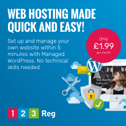 Set up and manage your own website within 5 minutes with 123 Reg's Managed WordPress