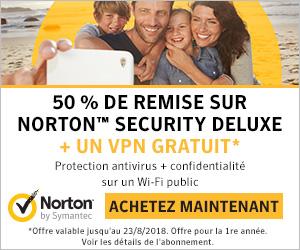 Téléchargez la version gratuite Norton Security avec une réduction de 50% sur licences