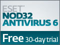 Click Here - Free Trial of ESET NOD32 Antivirus