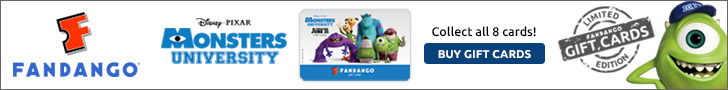 Limited Edition Monsters University Gift Cards