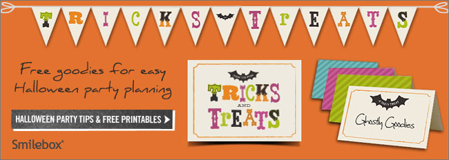 Halloween party tips and free printables from Smilebox.