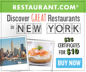 NYC Restaurant.com Gift Certificates