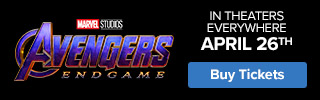320x100 Fandango - 'Avengers' - In Theaters Everywhere April 26th