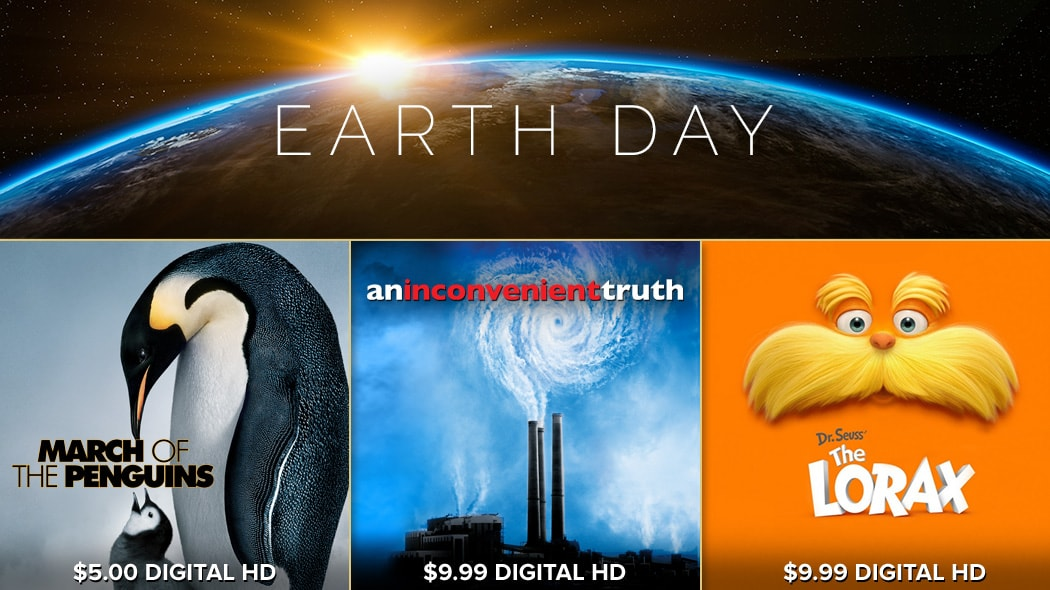 FandangoNOW - Earth Day Movies for $5 & Up