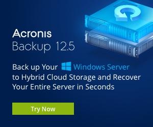 Image for Acronis Backup for Windows Server