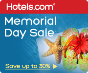 Memorial Day Sale! Save up to 30%! Book by 5/26/14, Travel by 6/2/14