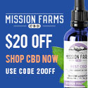$20 off at Mission Farms CBD