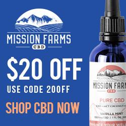 $20 off at Mission Farms CBD