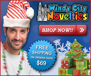 Windy City Novelties Coupon Code - 120% Lowest Price Guarantee + FREE Shipping w $69 order for all Holiday Party Decorations & Supplies