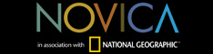 NOVICA logo with black background