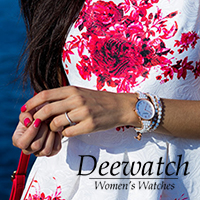Deewatch Navy is a Women's watches inspired by the sea. Shimmering blue beads are combined with black matte in this well-balanced creation.