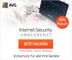 20% Rabatt auf AVG Internet Security Unlimited - jetzt bei AVG!