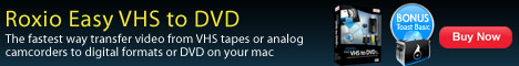 New! Easy VHS to DVD MAC