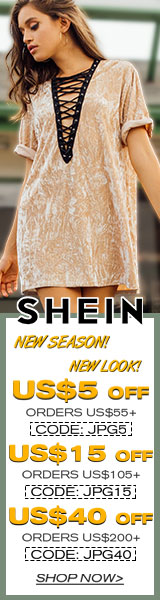 New Season, New Look! Get $40 off orders $200+ with coupon code JPG40 at SheIn.com! Ends 9/25