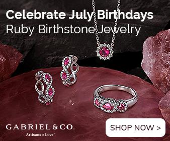 July Birthstone Ruby Fine Jewelry Banner