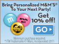 Create Custom M&M - personalize with your image & messages plus get 10% discount