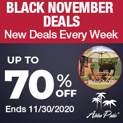 AbbaPatio: Up to 70% Off + Extra 30% off Black November Deals