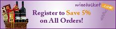 Winebasket.com: Register & Get 5% Off Every Order