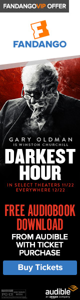 Buy tickets to 'Darkest Hour' and get a FREE audiobook