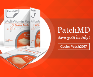 #1 Multivitamin for Adults from PatchMD.  Save 30% this month!
