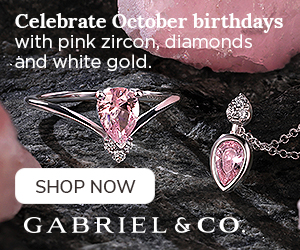 Celebrate October Birthdays Birthstone Fine Jewelry Banner 300 x 250