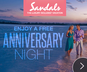 Celebrate your love at an all-inclusive Sandals Resort