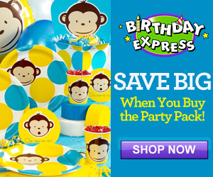 Blue Mod Monkey Party Supplies