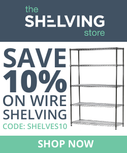 250x300 TSS Wire Shelving 10% OFF Coupon