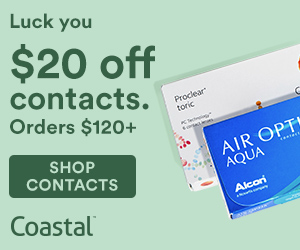 St. Patrick's Day Deal– $20 off + Free Shipping on Contact Lens orders over $120 at Coastal.com!