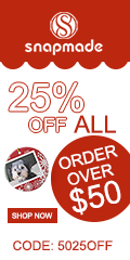 Snapmade 25% Off All Order Over $50 - 120*240