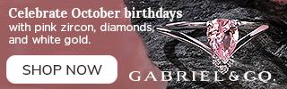 Celebrate October Birthdays Birthstone Fine Jewelry Banner 320 x 100